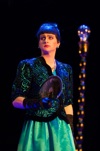 Liam Heslin (Stepmother) in Into the Woods. Photo by Keith Dixon.
