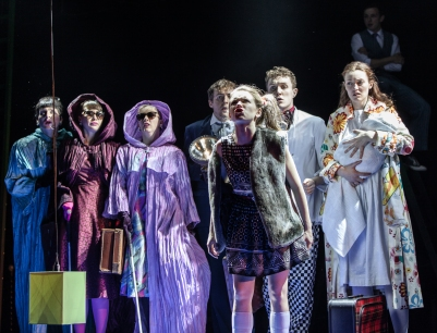 Ensemble in Into the Woods. Photo by Keith Dixon.