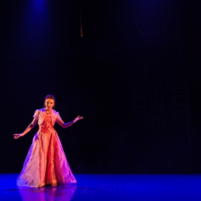 Katie Honan (Cinderella) in Into the Woods. Photo by Keith Dixon.