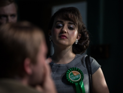 Adele Gribbon (Patricia) in Buddleia. Photo by Keith Dixon.