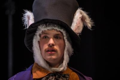 Joe McNally (White Rabbit) in O Go My Man. Photo by Keith Dixon.