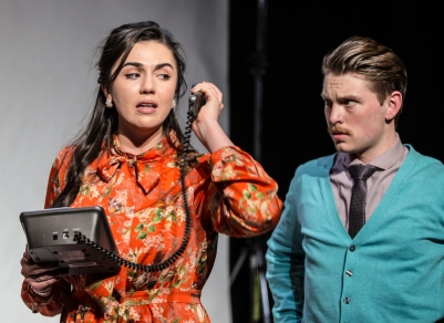 Alexandra Conlon (Elsa) and Joe McNally (Reg) in O Go My Man. Photo by Keith Dixon.