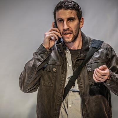 Ciarán Hilliard (Neil) in O Go My Man. Photo by Keith Dixon.
