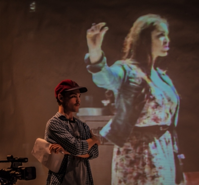 Joe McNally (Director) and Danielle Galligan (Sarah) in O Go My Man. Photo by Keith Dixon.