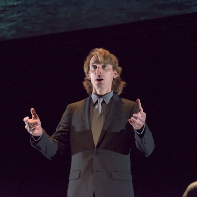 Daniel Cabena (counter-tenor) in air india [redacted]. Photos by Chris Randle/Turning Point Ensemble.