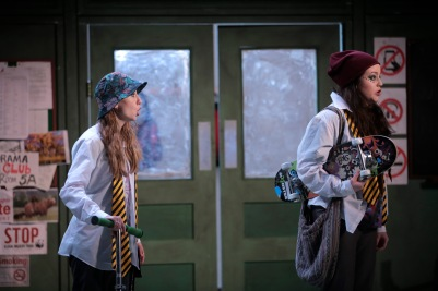 Kate Millett (Erste Knabe) and Katie O'Donoghue (Zweite Knabe) in Die Zauberflöte (The Magic Flute). Photo by Colm Hogan.