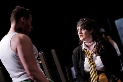 Robert McAllister (Sarastro) and Sarah Brady (Pamina) in Die Zauberflöte (The Magic Flute). Photo by Colm Hogan.