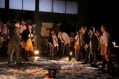 Ensemble in Die Zauberflöte (The Magic Flute). Photo by Colm Hogan.