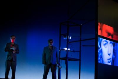 Martin Nagy (tenor) and Guillermo Anzorena (baritone) in Private View. Photo by Koen Broos.