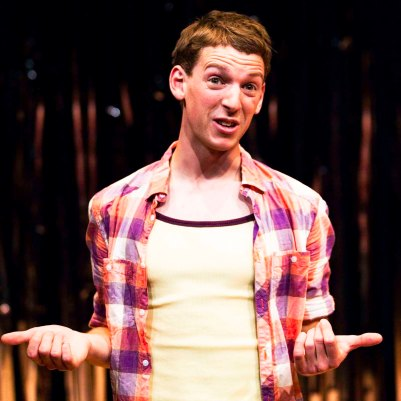 Dylan Kennedy (Seán) in All Over Town. Photo by Fiona Morgan