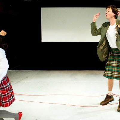 Eva O'Connor and Manchán Magan in Broken Croí/Heart Briste. Photo by Fiona Morgan.