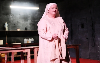 Rebecca Rodgers (Suor Angelica) in Suor Angelica. Photo by Frances Marshall.
