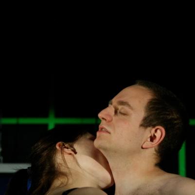 Joe Roch (Ty) and Megan Riordan (Dora) in The Coming World. Photo by Mick Cullinan.