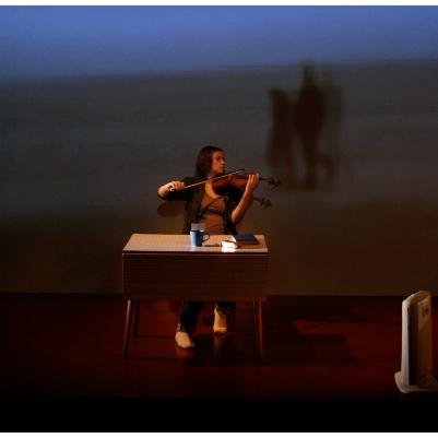 Ioana Petcu-Colan in Una Santa Oscura. Photo by Colm Hogan.