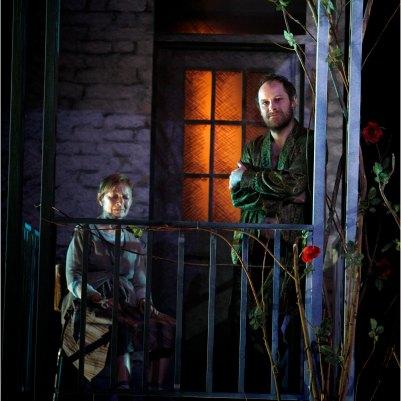 Áine Ní Mhuirí (Rose) and Ronan Leahy (Mathieu) in Solemn Mass for a Full Moon in Summer. Photo by Colm Hogan.