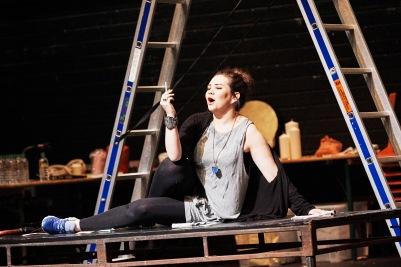 Rachel Croash (Susanna) in Susanna's Secret. Photo by Ros Kavanagh.