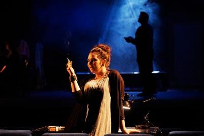 Rachel Croash (Susanna) and Ian Whyte (Sante) in Susanna's Secret. Photo by Ros Kavanagh.