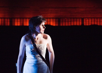Hilary O'Shaughnessy (Rosaura) in Life is a Dream. Photo by Ros Kavanagh.