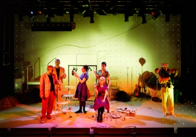 Ensemble in Attempts on her Life. Photo by Ros Kavanagh.