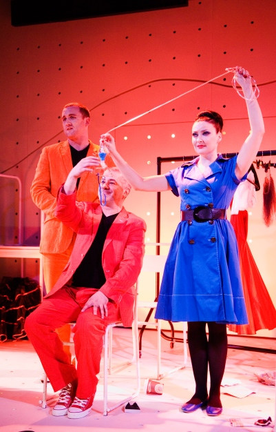 Rory Nolan, Darragh Kelly and Kathy Kiera Clarke in Attempts on her Life. Photo by Ros Kavanagh.