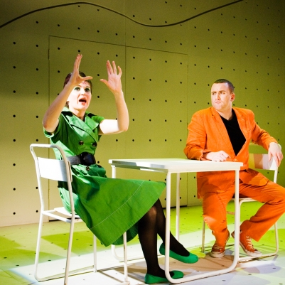 Hilary O'Shaughnessy and Rory Nolan in Attempts on her Life. Photo by Ros Kavanagh.