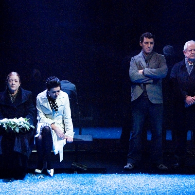 Deirdre Donnelly (Mother), Kathy Kiera Clarke (Woman), Frank Laverty (Man) and Des Nealon (Father) in Dream of Autumn. Photo by Ros Kavanagh.