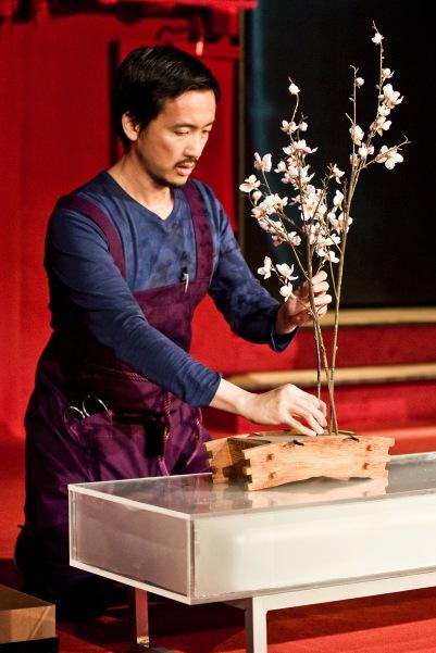 Orion Lee (Hideo) in Shibari. Photo by Fiona Morgan.