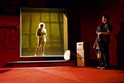 Janet Moran (Marie) and Ian Lloyd Anderson (Liam) in Shibari. Photo by Fiona Morgan.