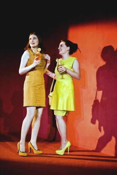 Kate Nic Chonaonaigh (Eva) and Alicja Ayres (Ioana) in Shibari. Photo by Fiona Morgan.