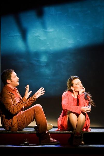 Ian Lloyd Anderson (Liam) and Kate Nic Chonaonaigh (Eva) in Shibari. Photo by Fiona Morgan.