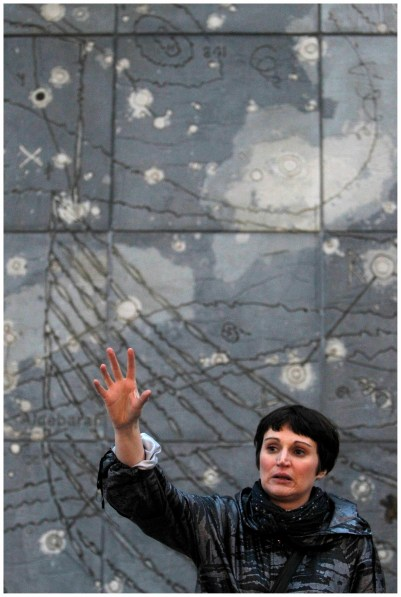 Hilary O'Shaughnessy in Berlin Love Tour. Photo by Colm Hogan.