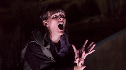 Katherine Manley (soprano) in The Hunger. Photo by Jack Vartoogian / Getty Images.