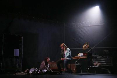Gillian McCarthy (Millie) and Amy Conroy (George/Georgina) in Futureproof. Photo by Miki Barlok.
