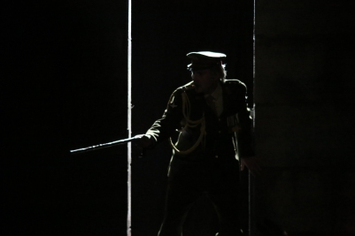 Andrew Boushell (General Sir Philip Wingrave) in Owen Wingrave (Opera Collective Ireland). Photo by Frances Marshall.