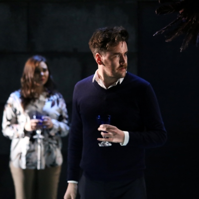 Rachel Croash (Mrs Coyle) and Christopher Cull (Spencer Coyle) in Owen Wingrave (Opera Collective Ireland). Photo by Frances Marshall.