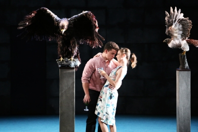 Peter O'Reilly (Lechmere) and Sarah Richmond (Kate Julian) in Owen Wingrave (Opera Collective Ireland). Photo by Frances Marshall.