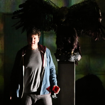 Benjamin Russell (Owen Wingrave) in Owen Wingrave (Opera Collective Ireland). Photo by Frances Marshall.