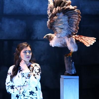 Rachel Croash (Mrs Coyle) in Owen Wingrave (Opera Collective Ireland). Photo by Frances Marshall.