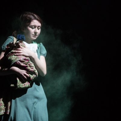 Niamh McAllister (Grusha) in The Caucasian Chalk Circle. Photo by Keith Dixon.