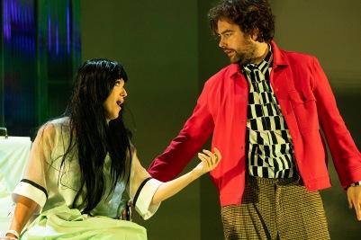 Claudia Boyle (Antonia) and Julian Hubbard (Hoffmann) in The Tales of Hoffmann. Photo by Pat Redmond.