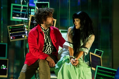 Claudia Boyle (Antonia) and Julian Hubbard (Hoffmann) in The Tales of Hoffmann. Photo by Pat Redmond.