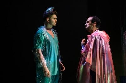 Andrew Gavin (Frantz) and Brendan Collins (Crespel) in The Tales of Hoffmann. Photo by Pat Redmond.