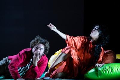 Julian Hubbard (Hoffmann) and Claudia Boyle (Giulietta) in The Tales of Hoffmann. Photo by Pat Redmond.