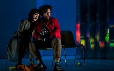 Claudia Boyle (Stella) and Julian Hubbard (Hoffmann) in The Tales of Hoffmann. Photo by Pat Redmond.